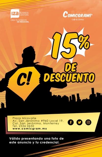 Convenio para clientes IZA BC MTY Comicgram
