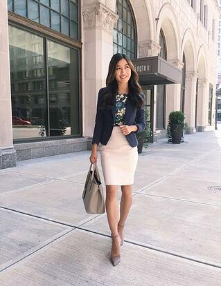 vestimenta business casual mujer 1